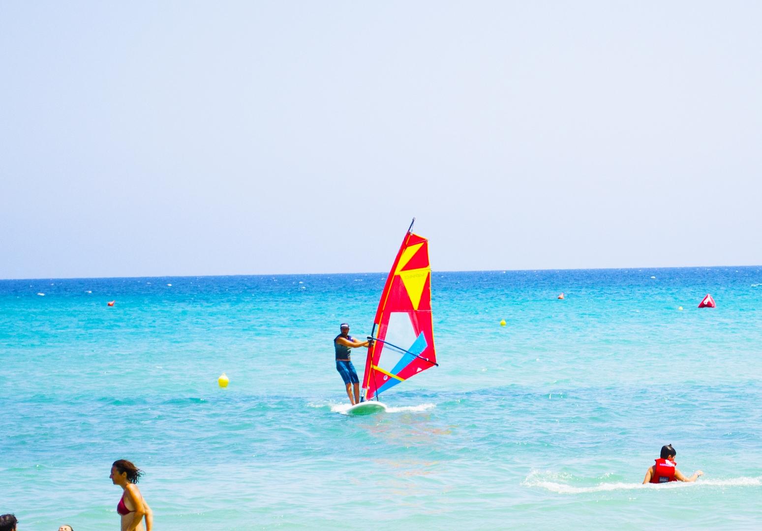 iniziare a navigare con il windsurf