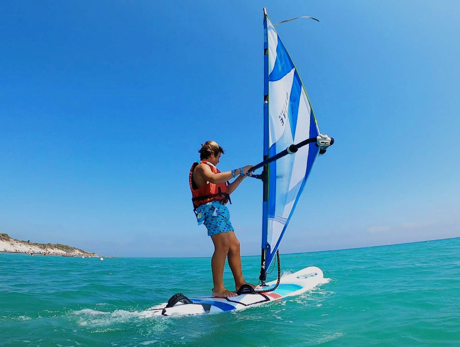 Corso di windsurf per bambini